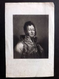 Porter after Gerard C1830 Mezzotint Portrait. Philippe 1st, King of the French